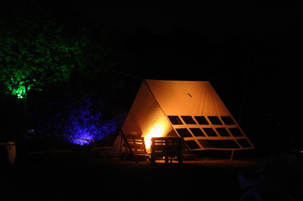 The big logo tent